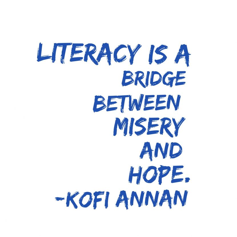 Support the literacy charities and help children create a love of reading.